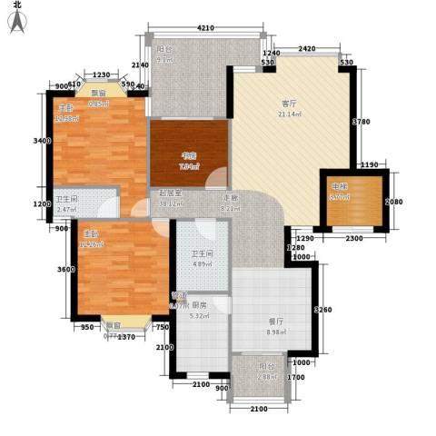 祥和御馨园3室0厅2卫1厨118.00㎡户型图