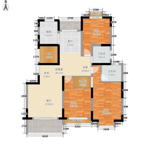 高塘公寓3室0厅2卫1厨155.00㎡户型图