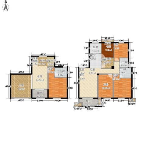 尚湖中央花园5室0厅3卫1厨250.00㎡户型图