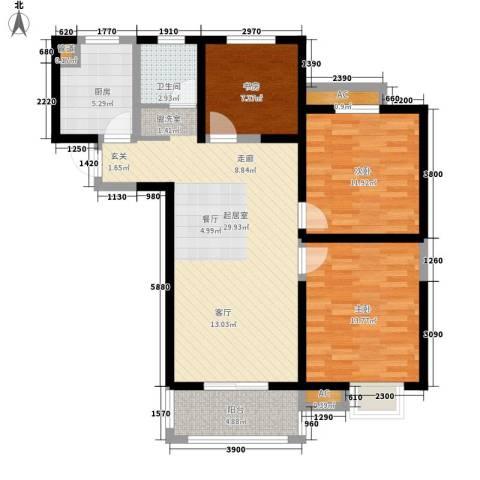 景城名郡3室0厅1卫1厨113.00㎡户型图