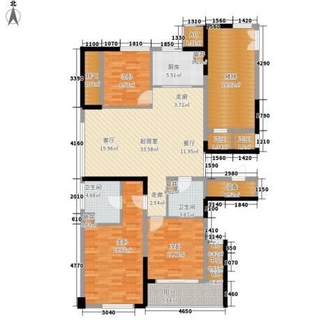 宁海世贸中心3室0厅2卫1厨138.00㎡户型图