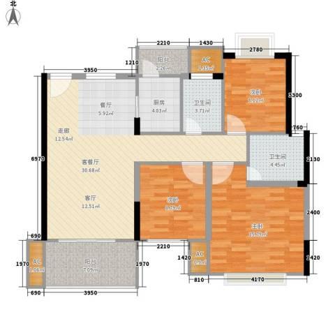 供销社宿舍楼(凤岗)3室1厅2卫1厨123.00㎡户型图