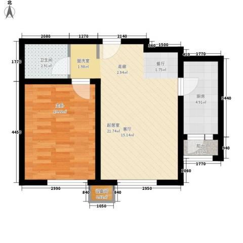 青果青城1室0厅1卫1厨70.00㎡户型图