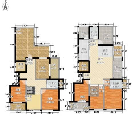尚湖中央花园5室0厅3卫1厨283.00㎡户型图