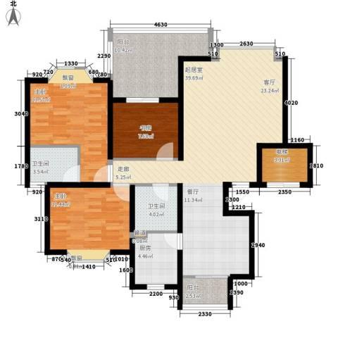 祥和御馨园3室0厅2卫1厨112.00㎡户型图