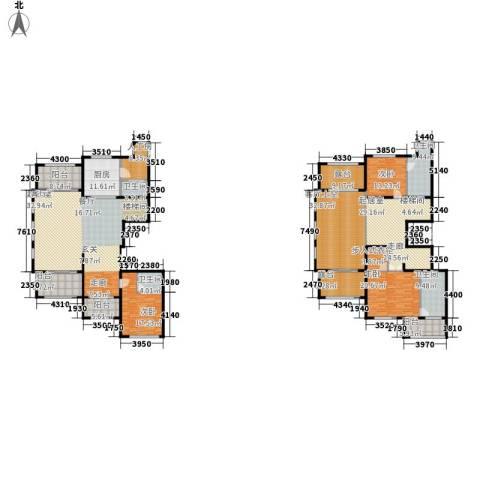 融绿�园3室0厅4卫1厨388.00㎡户型图