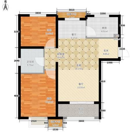 瞰海轩2室0厅1卫1厨98.00㎡户型图