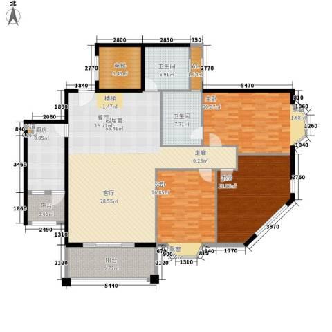 祥和御馨园3室0厅2卫1厨170.00㎡户型图