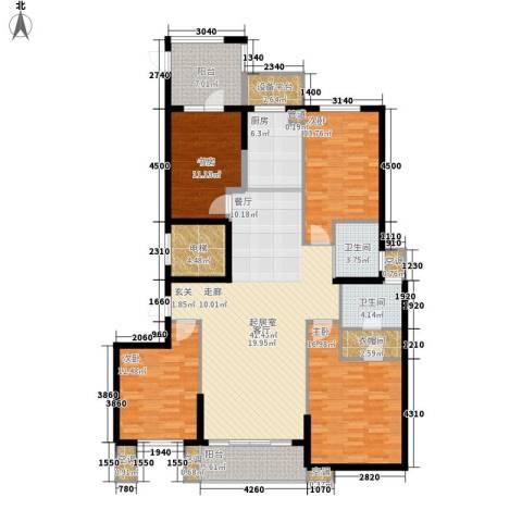 尚湖中央花园4室0厅2卫1厨191.00㎡户型图