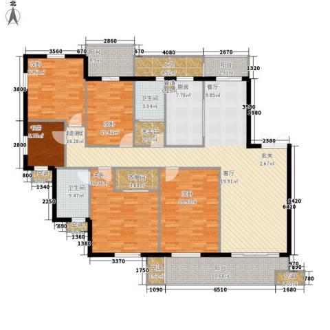 尚湖中央花园5室0厅2卫1厨220.00㎡户型图