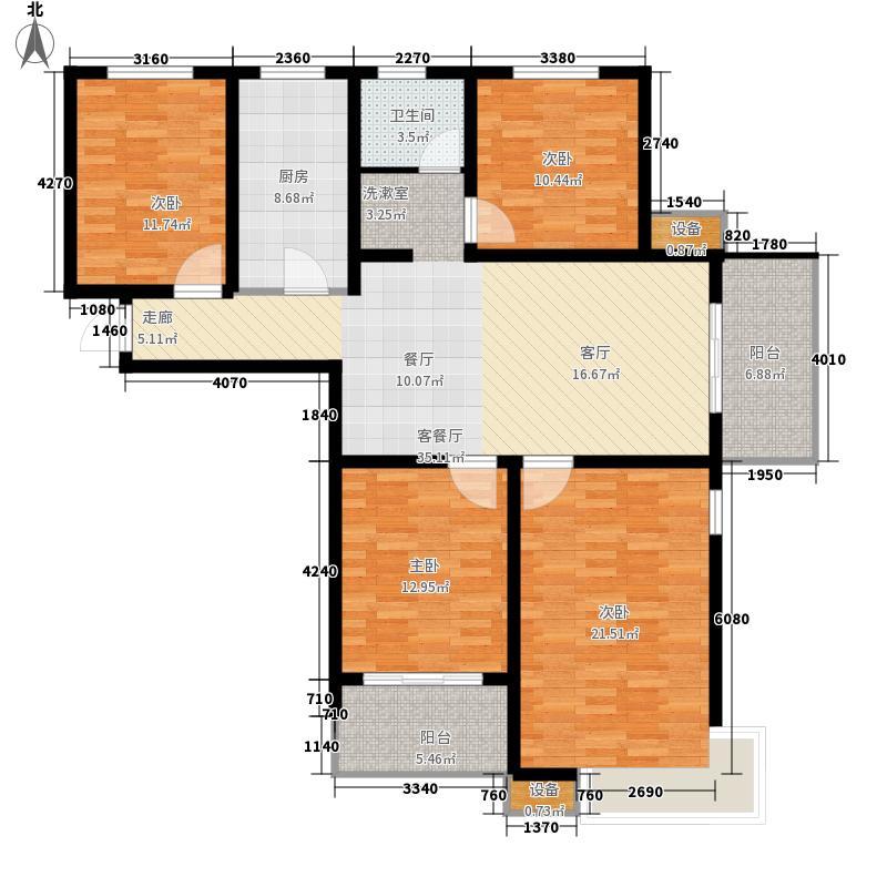 城置国际花园城131.00㎡15#楼L户型