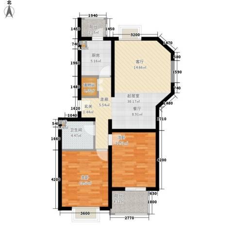 金厦新都庄园2室0厅1卫1厨106.00㎡户型图