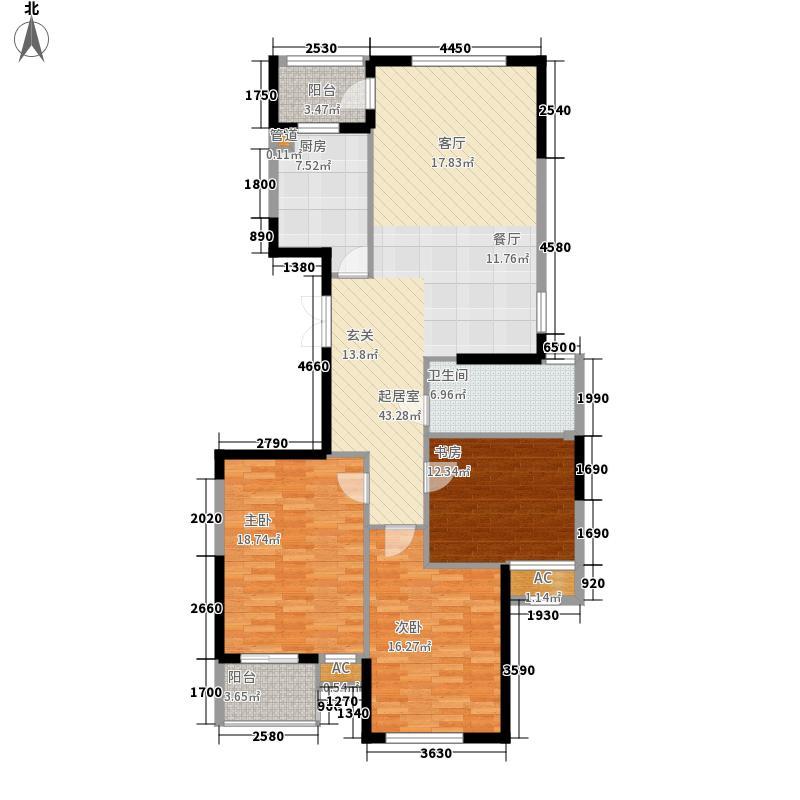 保亿丽景英郡丽墅128.00㎡高层1#面积12800m户型