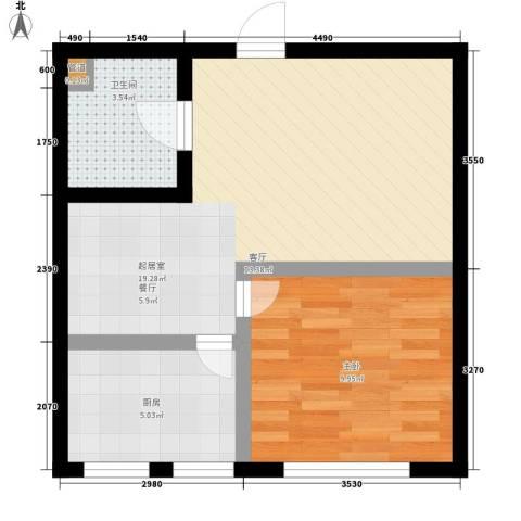 顶佳金领地1室0厅1卫1厨59.00㎡户型图
