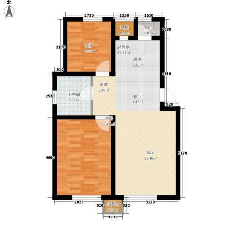 青果青城2室0厅1卫0厨90.00㎡户型图