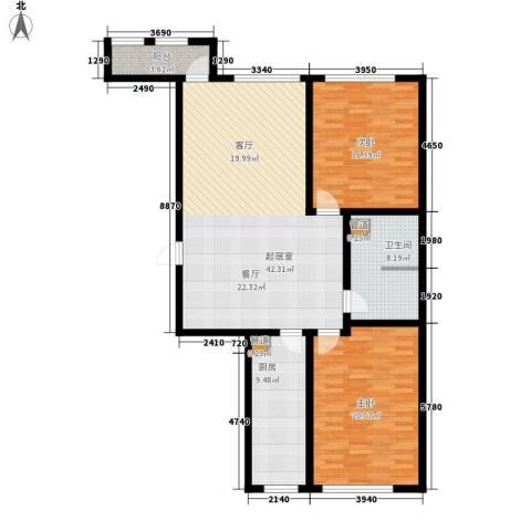 顶佳金领地2室0厅1卫1厨139.00㎡户型图