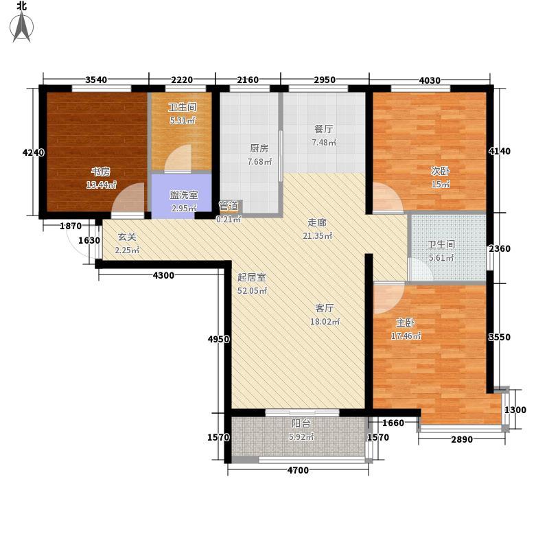 瞰海轩137.00㎡海之澜高层标准层户型