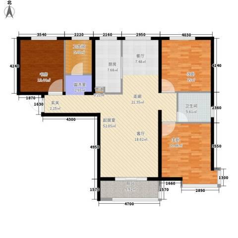 瞰海轩3室0厅2卫1厨137.00㎡户型图