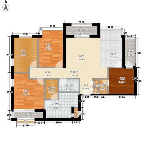 玉兰新村4室1厅2卫0厨85.00㎡户型图
