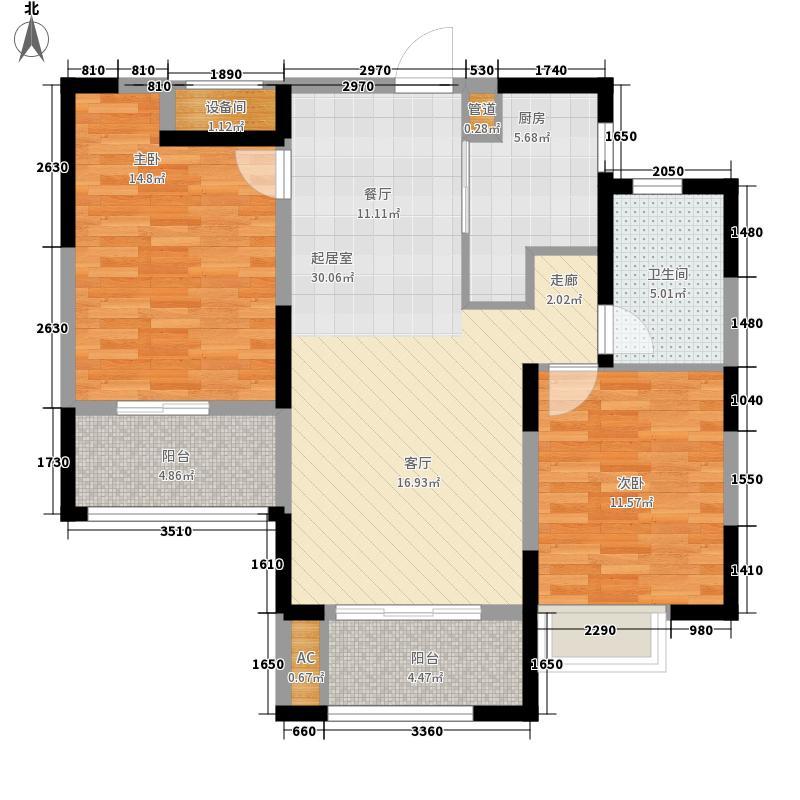 中南世纪城89.00㎡2#B5户型2室2厅
