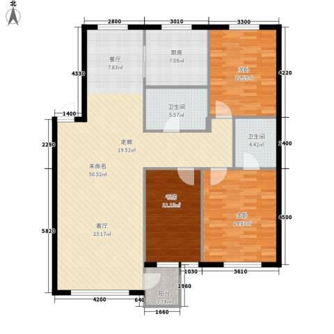 鑫汇苑小区3室0厅2卫1厨109.41㎡户型图