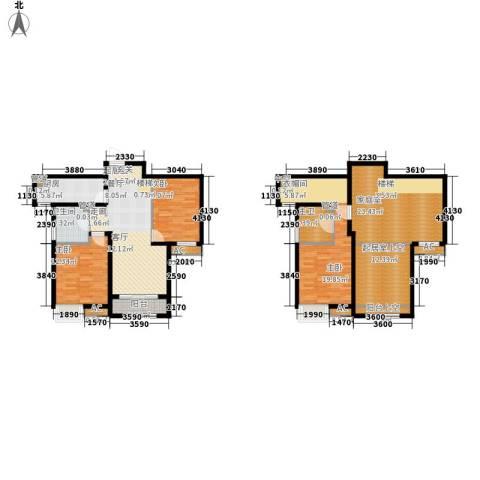 奥克斯盛世年华3室0厅1卫1厨142.00㎡户型图