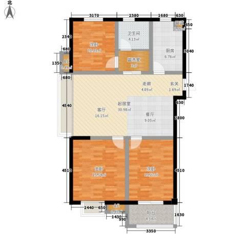 景城名郡3室0厅1卫1厨103.00㎡户型图