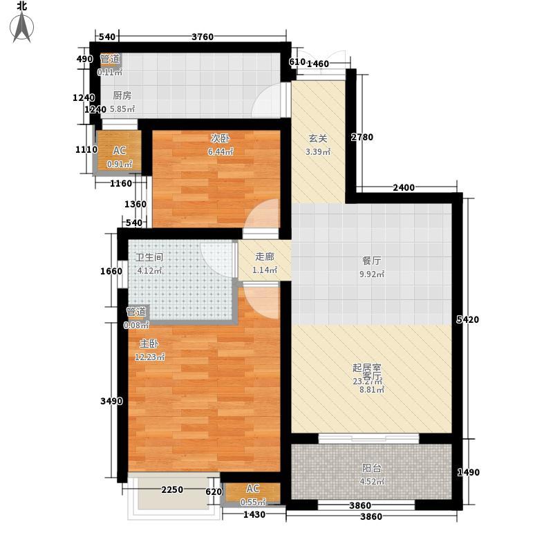 奥克斯盛世年华90.00㎡三期13号楼标准层C2户型
