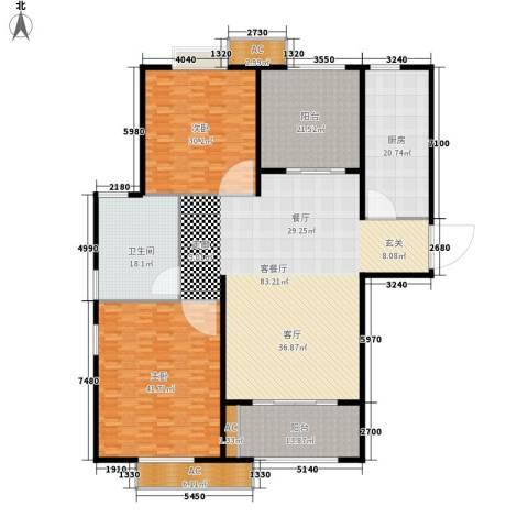 双塔小区2室1厅1卫1厨260.00㎡户型图