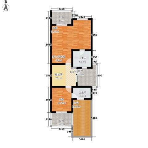 三利宅院福邸2室0厅2卫0厨330.00㎡户型图