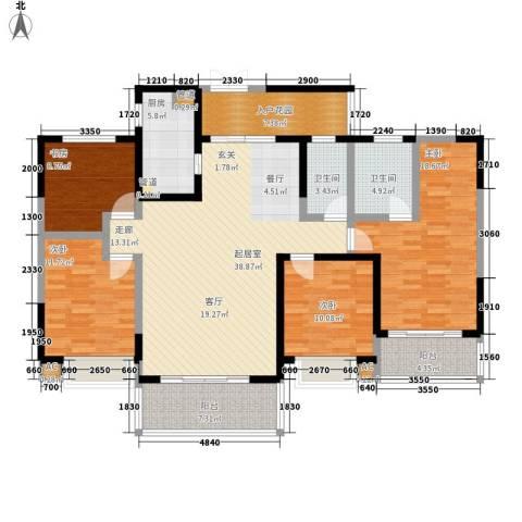 锦城南府4室0厅2卫1厨160.00㎡户型图