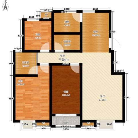 首创康桥郡3室1厅2卫1厨120.00㎡户型图
