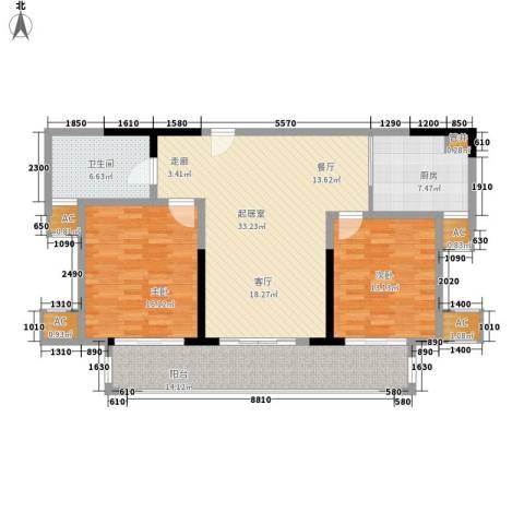 宁海世贸中心2室0厅1卫1厨108.00㎡户型图