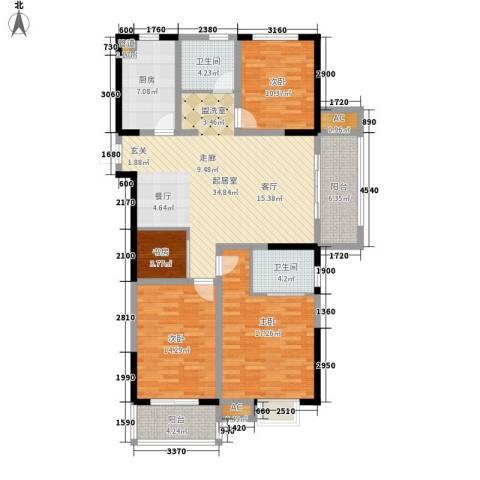 景城名郡4室0厅2卫1厨125.00㎡户型图