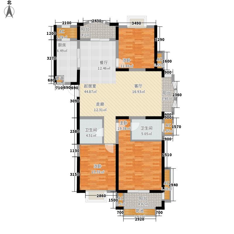中南世纪城139.00㎡4#6#C2户型3室2厅
