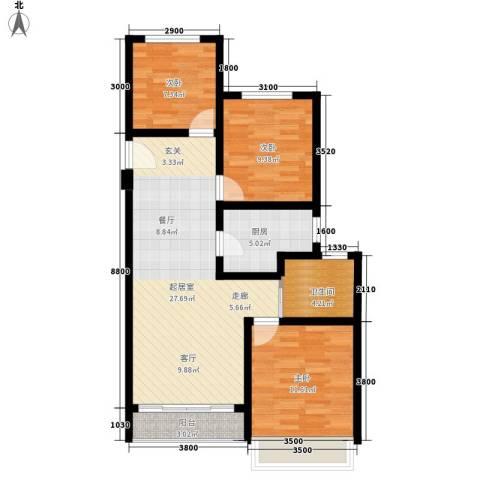 光谷中央城3室0厅1卫1厨97.00㎡户型图