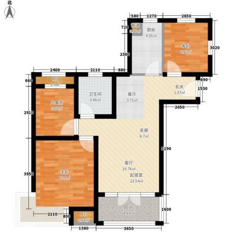 碧桂园滨海城3室0厅1卫1厨94.00㎡户型图