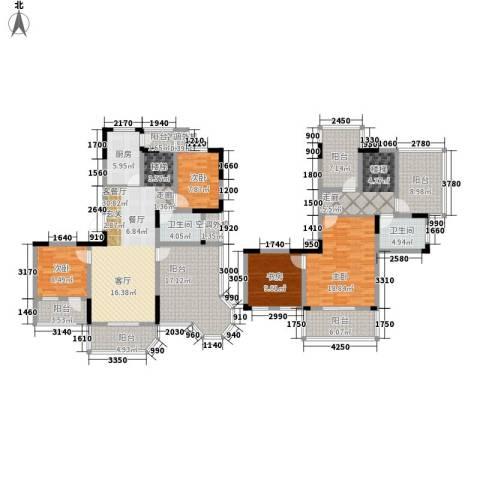 华园四季4室1厅2卫1厨151.50㎡户型图