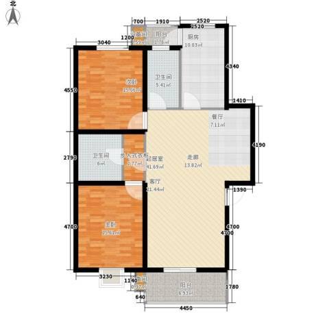 舜都锦都苑2室0厅2卫1厨119.00㎡户型图