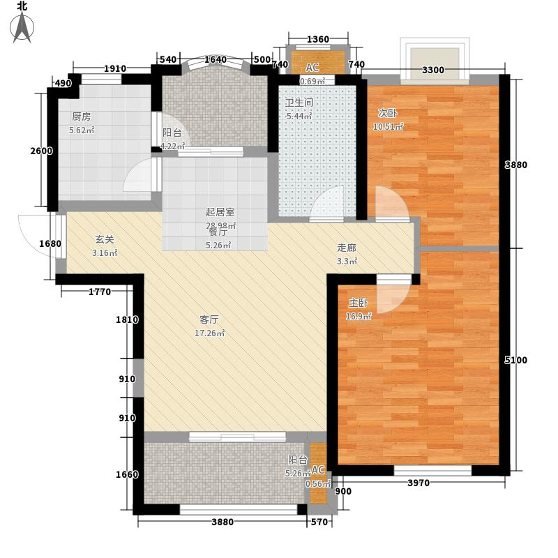 中南世纪城89.00㎡4#6#B11户型2室2厅