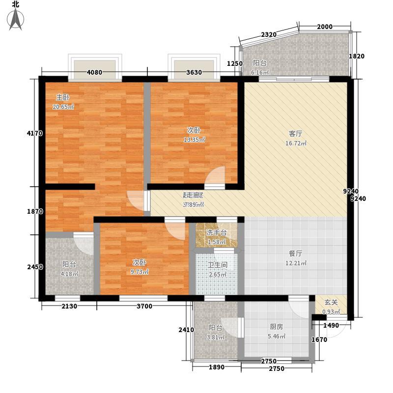 博丰嘉华盛世121.89㎡错层面积12189m户型
