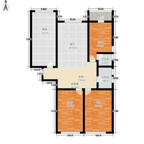 顶佳金领地3室0厅2卫1厨180.00㎡户型图
