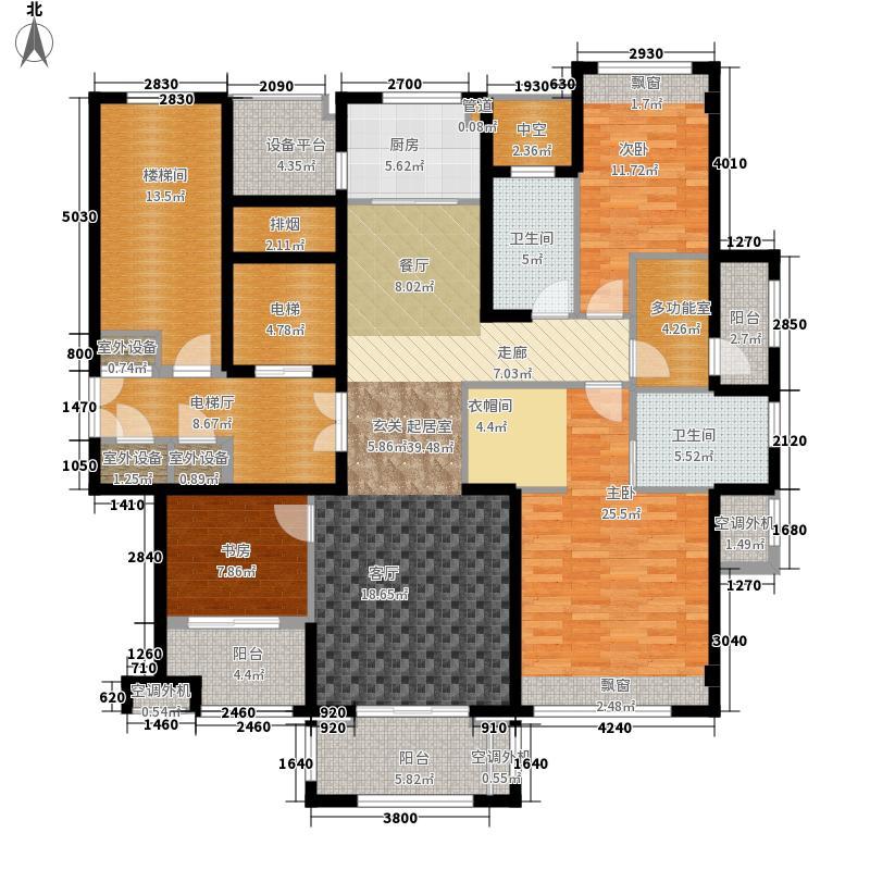 公元世家二期139.00㎡D3户型4室2厅