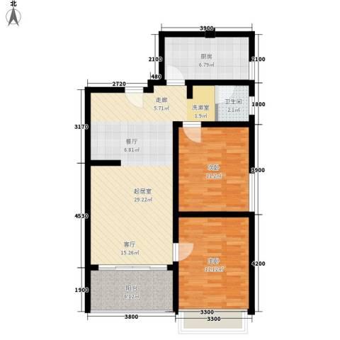 光谷中央城2室0厅1卫1厨83.00㎡户型图