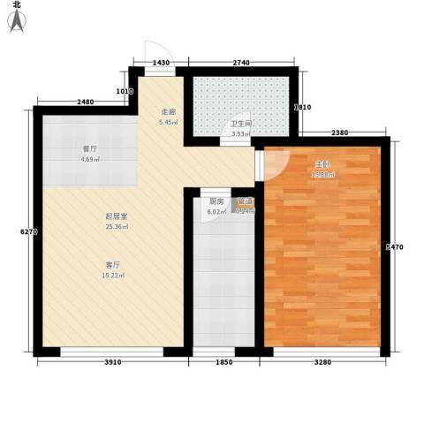 顶佳金领地1室0厅1卫1厨76.00㎡户型图