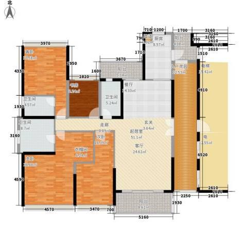 招商金山谷4室0厅3卫1厨210.00㎡户型图