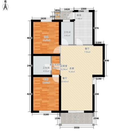 舜都锦都苑2室0厅2卫1厨116.00㎡户型图