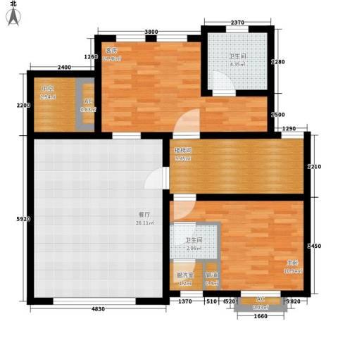 洛阳碧桂园1室1厅2卫0厨107.00㎡户型图