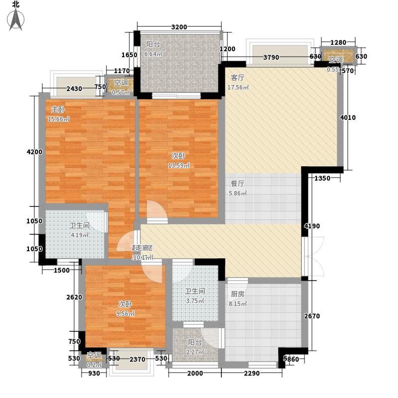 公园一号129.28㎡一期二号楼标准面积12928m户型