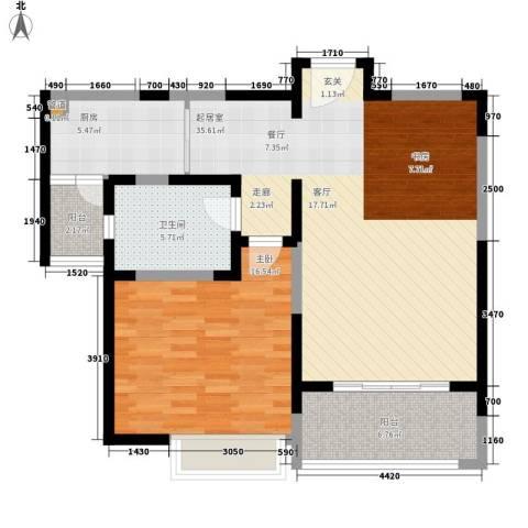 太湖水云天1室0厅1卫1厨83.00㎡户型图